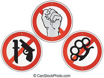 armas, violencia, no