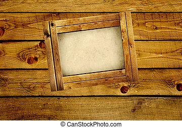 armature bois bois sur objet blanc cadre