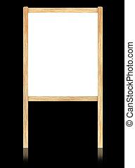 armature bois, isoler, arrière-plan., noir, planche, blanc, vide