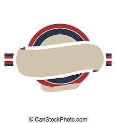 armature circulaire, à, couleur, drapeau, royaume-uni, et, étiquette