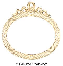 armature ovale, isolé, miroir