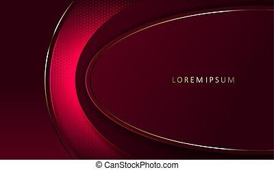 armature ovale, rose, conception, or, sombre, frontière, résumé