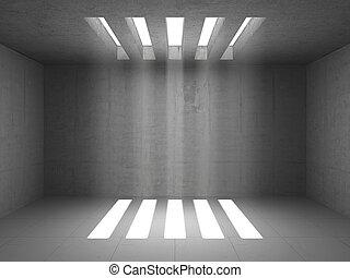 armazém, sala, vazio