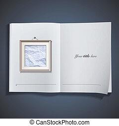 armazón, blanco, libro