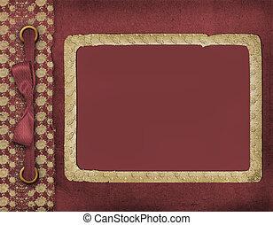 armazón, para, un, foto, o, invitations., un, vinous, bow., un, hermoso, fondo.