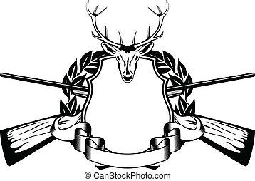 armazón, tema, caza