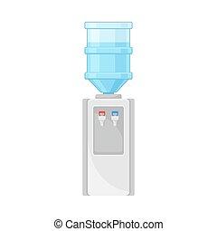 armazenamento, bebendo, sistemas, aquecimento, esfriando, vetorial, ilustração, tanque, água