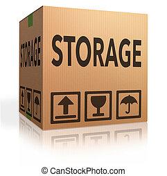armazenamento, caixa