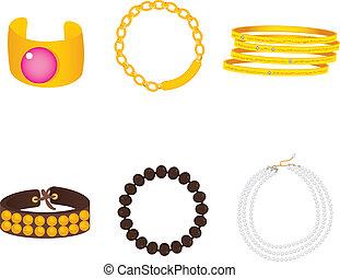 armbänder, accessoirs, sammlung
