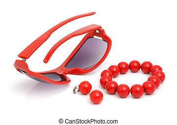 armband, glasögon, örhängen