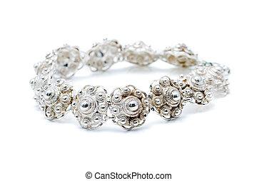 armband, zilver, hollandse