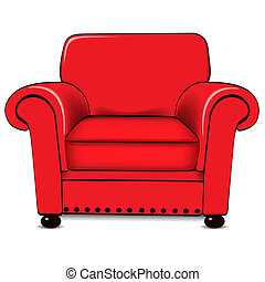 Armchair - A vector illustration of an armchair