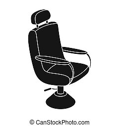 Armchair. Barbershop single icon in black style vector symbol stock illustration web.