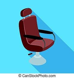 Armchair. Barbershop single icon in flat style vector symbol stock illustration web.