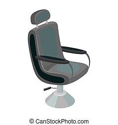 Armchair. Barbershop single icon in monochrome style vector symbol stock illustration web.