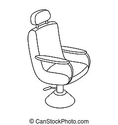 Armchair. Barbershop single icon in outline style vector symbol stock illustration web.
