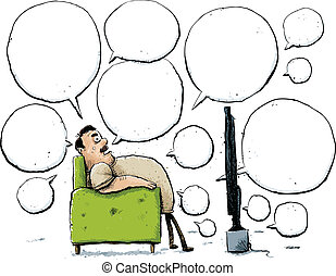 Armchair Critic - A cartoon man talks about television from...