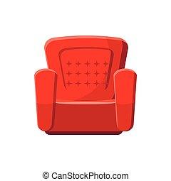 Armchair icon, cartoon style