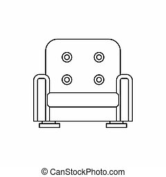 Armchair icon in outline style