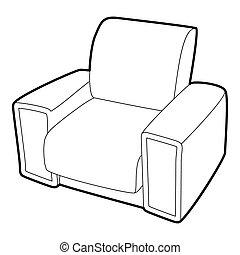 Armchair icon, isometric 3d style