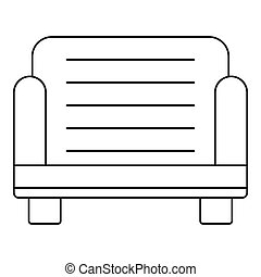 Armchair icon, outline style