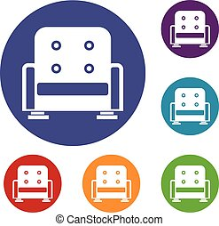 Armchair icons set