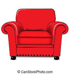 Armchair - A vector illustration of an armchair
