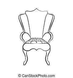 Armchair in Art Deco style