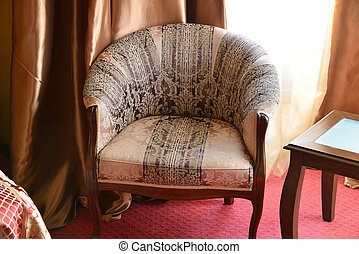 Armchair in interior of the room