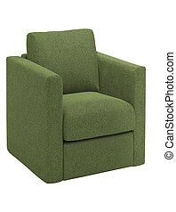 Armchair isolated on a white background