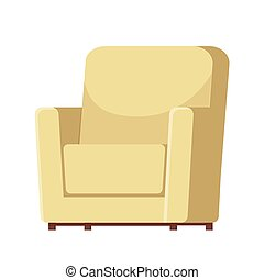 Armchair isolated on white background. Vector illustration. EPS 10.