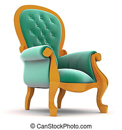 Armchair isolated on white