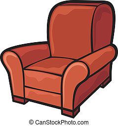 armchair (leather tub chair)