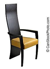 Armchair - Modern leather armchair isolated on white...