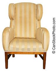 Armchair on white