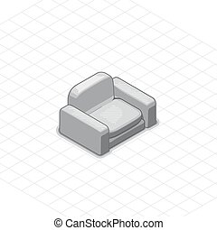 Armchair or couch vector illustration
