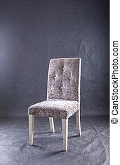armchair, rejsende, gråne, skud, ind, den, studio
