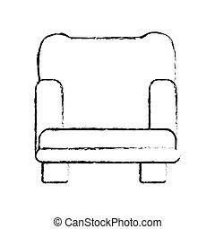armchair sofa icon image