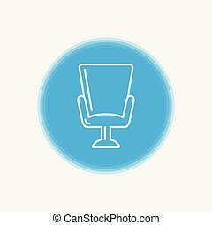Armchair vector icon