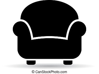 Armchair vector icon isolated on white background