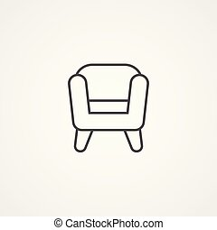 armchair vector icon sign symbol