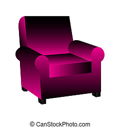 armchair vector illustration
