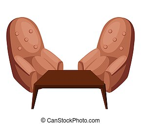Armchair vector illustration isolated on white chair