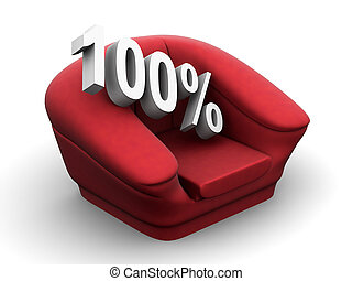 Armchair with 100 percent