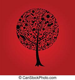 arme, arbre