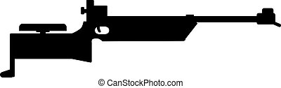 arme, biathlon, fusil, fusil