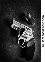 arme, défense, pistolet, revolver
