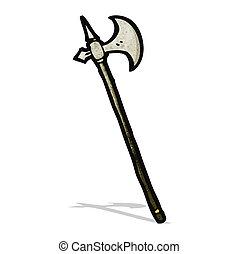 arme, dessin animé, moyen-âge