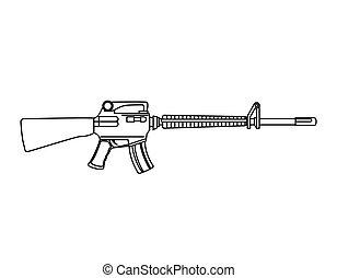 arme, mitraillette