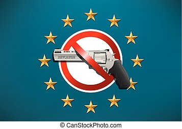 arme, -, prohibition, interdiction, eu, fusils